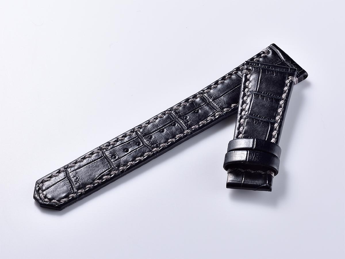 オリジナルクロコ革ベルト - ブラック