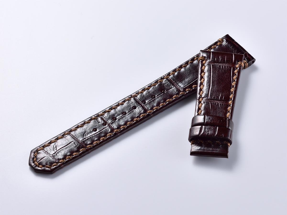オリジナルクロコ革ベルト - ダークブラウン