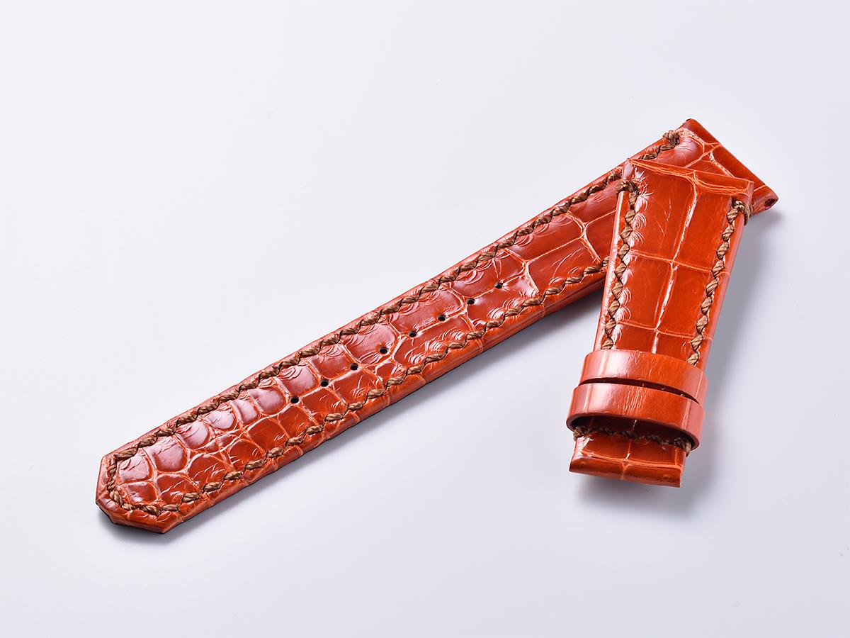 オリジナルクロコ革ベルト - オレンジ